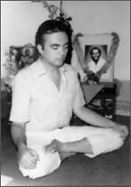 Avatar Adi Da as a student  of Swami Muktananda